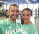 Katinka és Shane_elutazás előtt